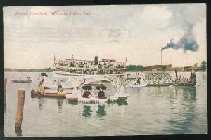 Winona Lake Indiana IN Water Carnival 1914 Postcard