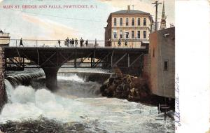 Pawtucket Rhode Island~People on Main Street Bridge~Falls Below~Good's Drugs~'07