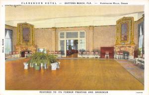 Daytona Beach Florida~Clarendon Hotel~Ballroom Interior~Harrington Mills~1931 PC