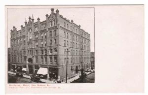 Savery Hotel Des Moines Iowa 1910c postcard