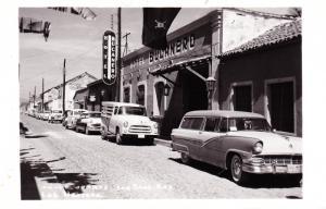 RPPC Hotel Bucanero, San Blas Nay Mexico, Jolly Roger, Vintage Cars Postcard D28