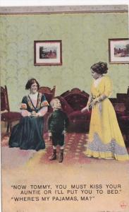 Humour Now Tommy You Must Kiss Your Auntie Or I'll Put You To Bed 1912 Bamforth