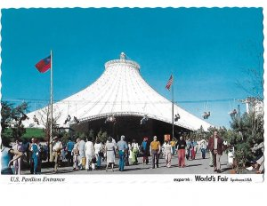 U S Pavilion Entrance EXPO 1974 World's Fair Spokane Washington  4 by 6