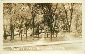 1932 Talcott Park Rockville Connecticut RPPC Photo Postcard 20-722