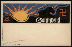 Austria early 1900s Winter Solstice Sonnwendfeier Pagan Festival Card Sche 94731