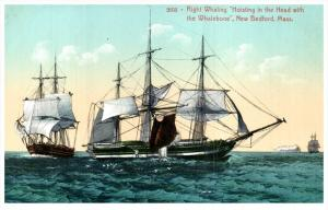 18550    Right Whaling, Hoisting the Head with the Whalebone