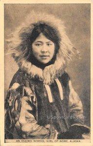 Eskimo School Girl - Nome, Alaska AK