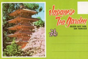 Japanese Tea Garden San Fransisco Folding Postcard Book