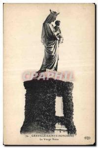 Old Postcard Graville Sainte Honorine Virgin Our