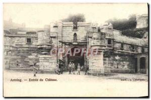 Old Postcard Antoing Entree du Chateau Children