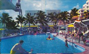 Swimming Pool , WOFORD BEACH Hotel , Miami Beach , Florida , 40-50s