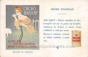 Advertising Postcard - Old Vintage Antique Cacao Bensdorp Unused