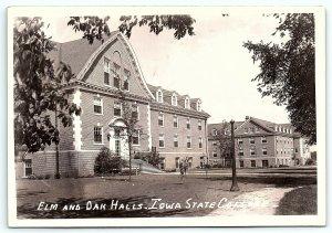 VTG Postcard RPPC Real Photo Iowa State College Ames IA Elm Oak Hall Building A5