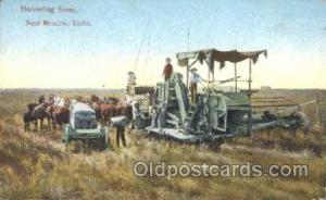Idaho Farming, Farm, Farmer, Postcard Postcards Near Moscow, Idaho USA Harves...
