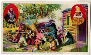 Settlers Repelling an Indian Attack - Prudential insurance