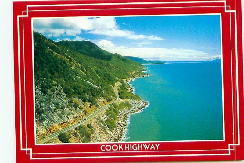 Postcard cooks Highway Great Dividing Range Coral Sea Beach Australia  # 3477A