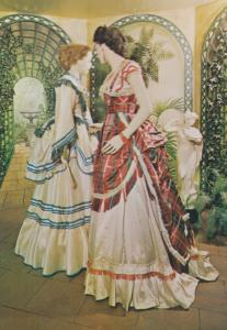 1872 Ladies Victorian High Dress Heel Shoes In Conservatory Fashion Postcard
