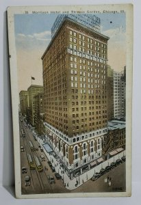 Vintage Postcard Morrison Hotel Terrace Garden Chicago Illinois 1923 linen AL