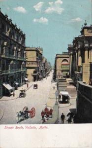 Malta Valletta Strada Reale Street Scene