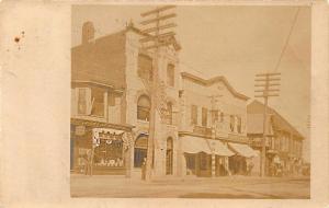 Sanford ME Square & Main Street Clark Jewelry Store Storefronts RPPC