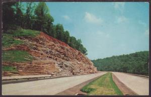 High Bluffs Along Kentucky Turnpike Postcard BIN
