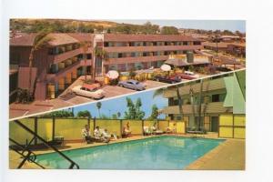 LaJolla CA Motel T-Bird Pool Old Cars Postcard