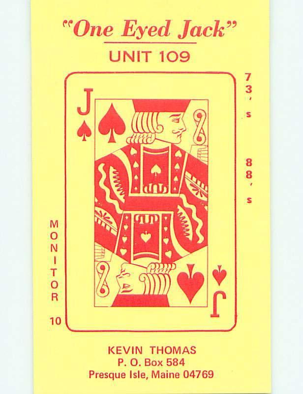 One Eyed Jack - Card For Poker - Qsl Ham Radio Card Presque