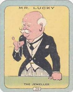 Carreras Vintage Cigarette Card N0 39 Mr Lucky The Jeweller