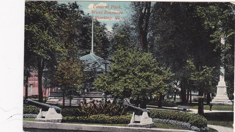 Central Park, West Entrance, Sterling, Illinois, 1900-1910s