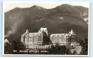 *Banff Springs Hotel Pacific Railway Sulphur Mountain Vintage Photo Postcard C89
