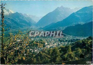 Modern Postcard Argeles Gazost Hautes Pyrenees General view of the station an...