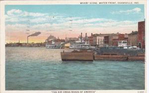 EVANSVILLE, Indiana, PU-1934; Wharf Scene, Water Front