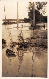 G41/ Atlantic Iowa RPPC Postcard 1924 High Water Flood Disaster