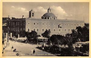 Haifa Israel birds eye view St Elie convent Mt Carmel antique pc Z17915