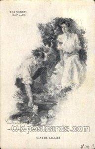 Artist Signed Howard Chandler Christy, Water Lillies 1906 crease left top edg...