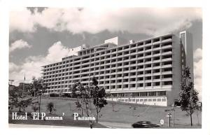 Panama Old Vintage Antique Post Card Hotel El Panama Real Photo Unused