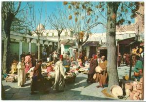 Morocco, Maroc, Souk el Hot el Kadim, Market Square, unused Postcard