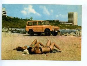241377 ROMANIA ADVERTISING IAP UAP car DACIA aro 244 on beach
