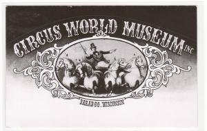 Circus World Museum Advertising Art Baraboo Wisconsin RPPC postcard