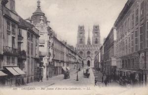 Rue Jeanne D´Arc el la Cathedrale, ORLEANS, Loiret, France, 00-10´s