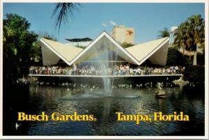 Busch Gardens Tampa Florida FL Hospitality House Unused Vintage Postcard D56