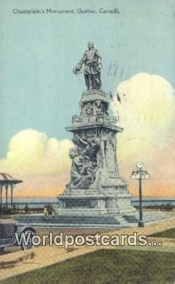 Champlain's Monument Quebec Canada 1934