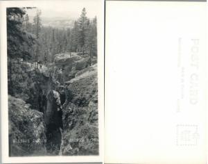 Maligne Canyon Jaspe Parque Alberta Canada Vintage RPPC Real Foto Tarjeta Postal