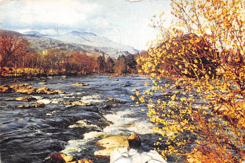 Scotland Perthshire River Dochart and Ben Lawers, Killin