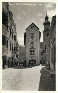Austria Kurort Hall Tirol Wallpachgasse RPPC 06.85