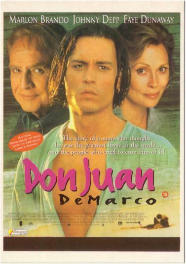 Postcard of Don Juan De Marco Johnny Depp Movie #1 / HipPostcard