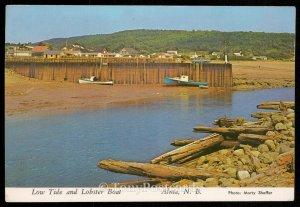 Low tide and Lobser Boat - Alma, N.B.