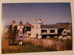 VTG Postcard Schooner Village Marian Elizabeth Restaurant Cape Breton Highland