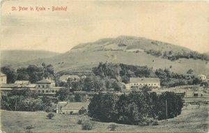 Slovenia SLOVENIJA St. Peter in Krain Bahnhof railway train station 1917