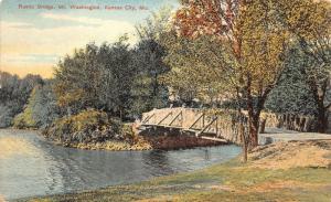 Kansas City Missouri~Mt Washington Rustic Bridge~Wood Planks~1910 Postcard